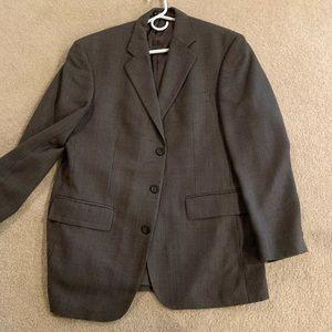 Gray plaid blazer